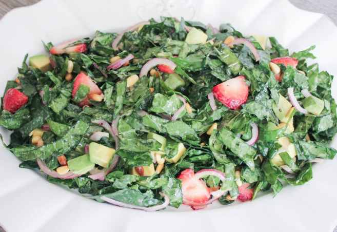Summer-Kale-Salad-with-Strawberries-Avocado-Pine-Nuts-and-Goat-Cheese-step-6