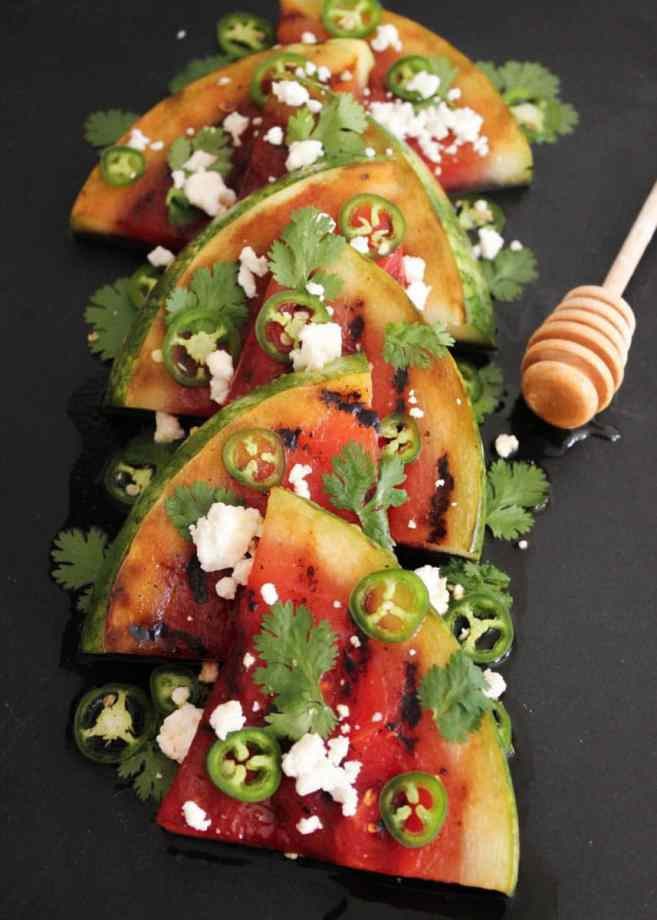 Grilled-Watermelon-with-Jalapeños-Feta-and-Honey-3