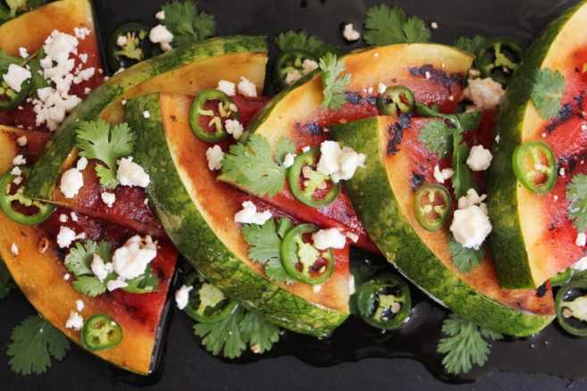 Grilled-Watermelon-with-Jalapeños-Feta-and-Honey-8