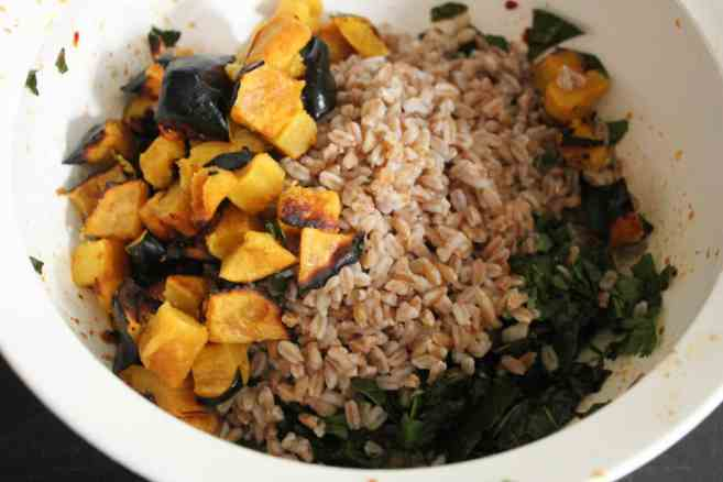 Farro-with-Chipotle-Glazed-Acorn-Squash-Kale-Toasted-Pepitas-Feta-step-9