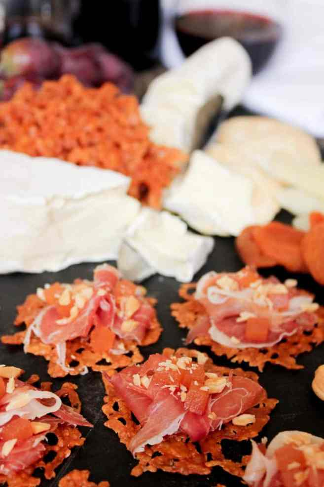 Manchengo-crisps-with-serrano-ham-quince-paste-and-marcona-almonds-4