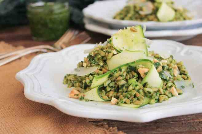 Farro-with-Kale-Pesto-Shaved-Zucchini-Parmesan-Marcona-Almonds-7