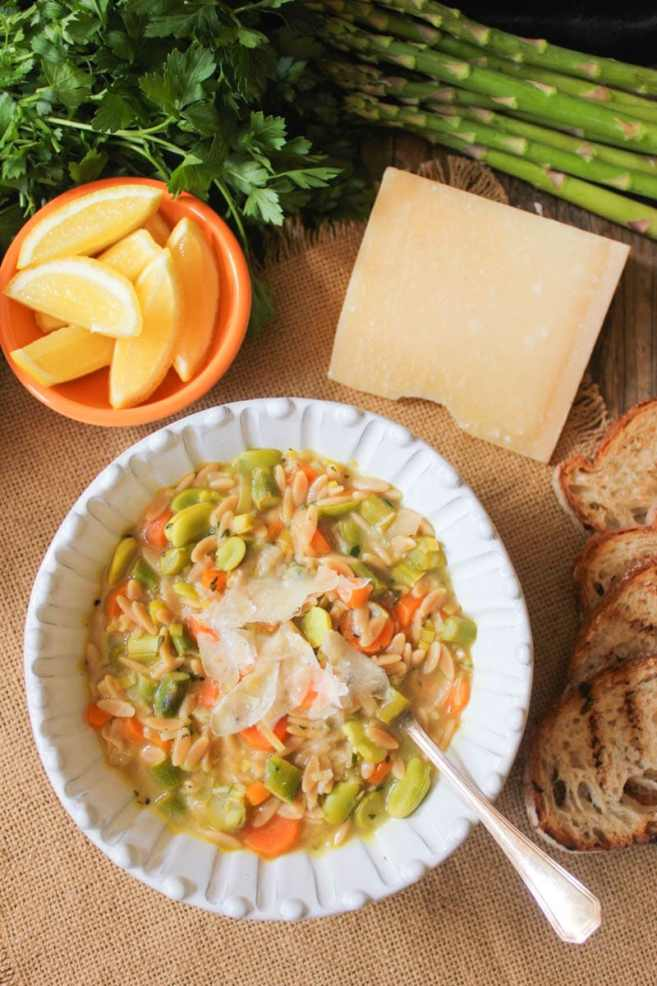 Lemon-orzo-soup-with-spring-vegetables-and-parmesan-4