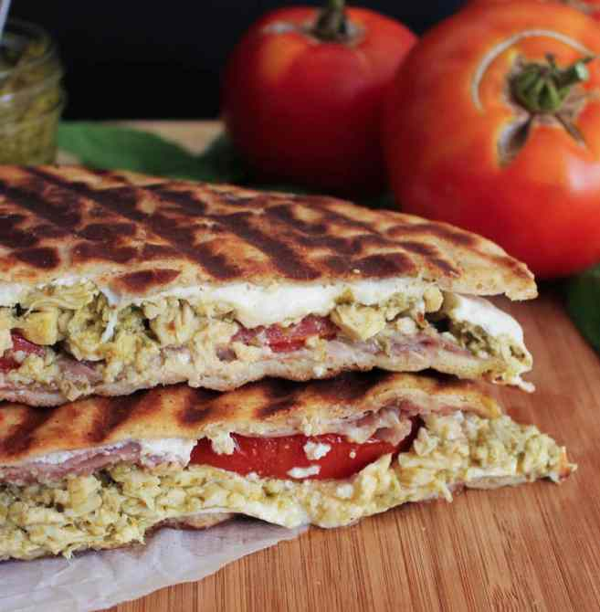 Pesto-Chicken-Flatbread-Panini-with-Prosciutto-Tomatoes-Mozzarella-20