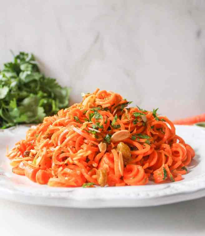 Spiralized-Carrot-Salad-with-Herbs-and-Toasted-Almonds-5