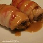 Bacon Wrapped Turkey Rollups
