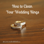 How to Clean Your Wedding Rings