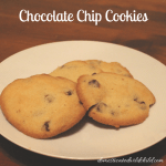 Last Minute Chocolate Chip Cookies