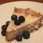 Roasted Blueberry Cheesecake