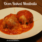 Oven Baked Meatballs