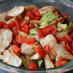 BBQ Chicken and Avocado Salad