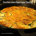 Crustless Zucchini and Asparagus Quiche