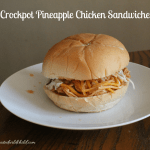 Crockpot Pineapple Chicken Sandwiches