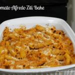 Tomato Alfredo Ziti Bake