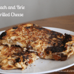 Peach and Brie Grilled Cheese