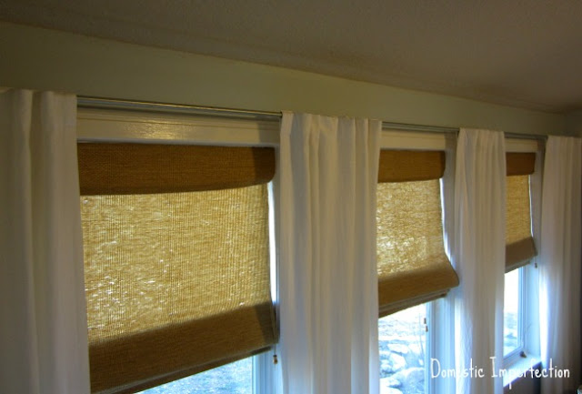 own curtain rods on the cheap