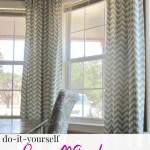 Diy Bay Window Curtain Rod Back Tab Curtains Domestic Imperfection