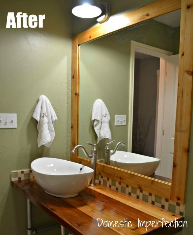 rustic industrial bathroom vanity
