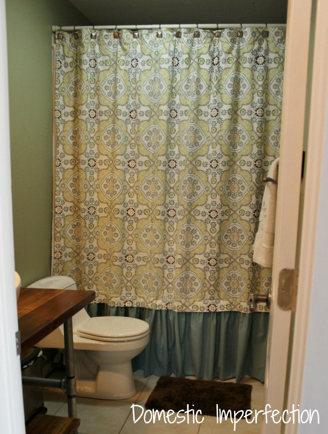 adding length to a shower curtain