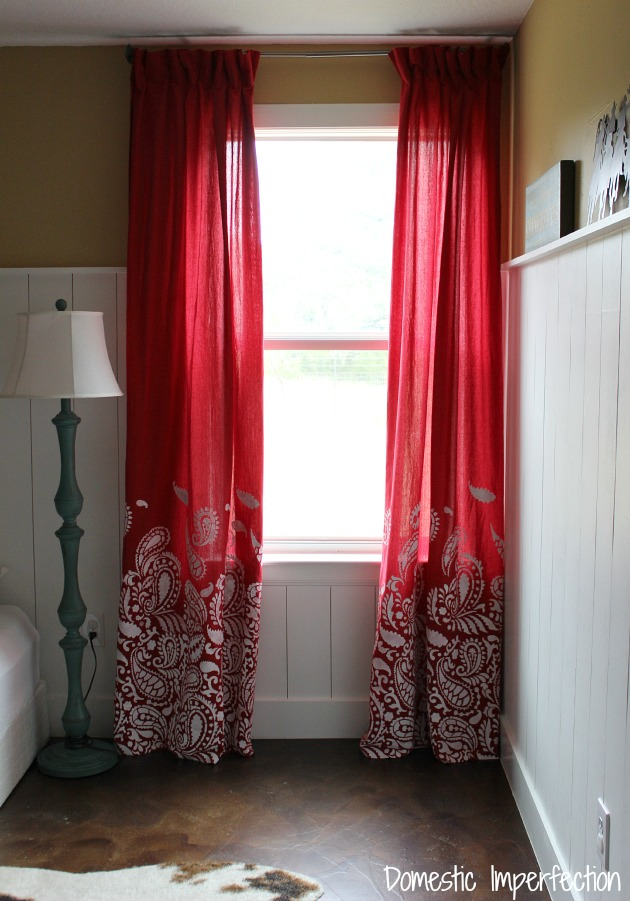 cowboy bedding and how to make lined curtains - domestic imperfection