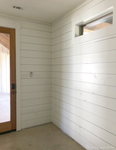 Everything I ve Learned About Painting Shiplap   Domestic Imperfection How to paint shiplap