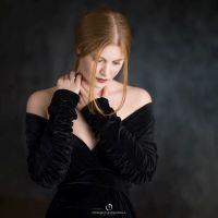 ritratto attrice in studio a milano
