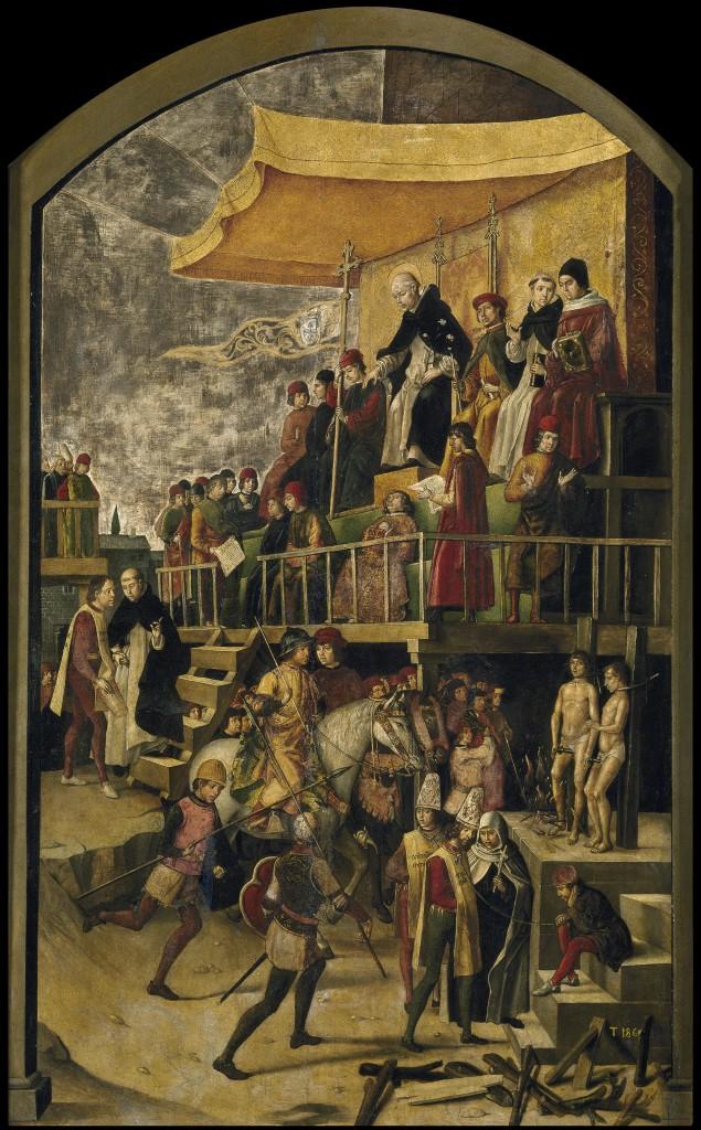 Pedro Berruguete - Inquisiteur présidant un auto-da-fé (acte de foi)