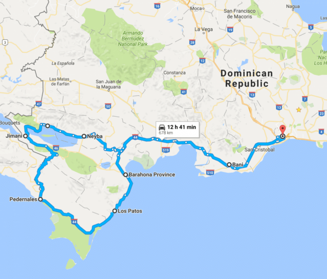 Road trip south dominican republic car rental bahia aguilas pedernales