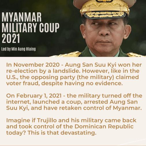 Myanmar coup summary