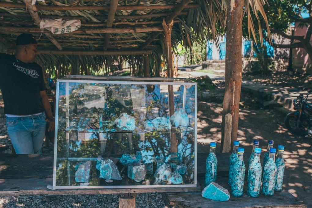 Stop by the Larimar stands in Barahona.