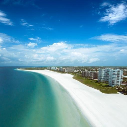 Marco Island Beach Aerial Drone Shot (1)-2