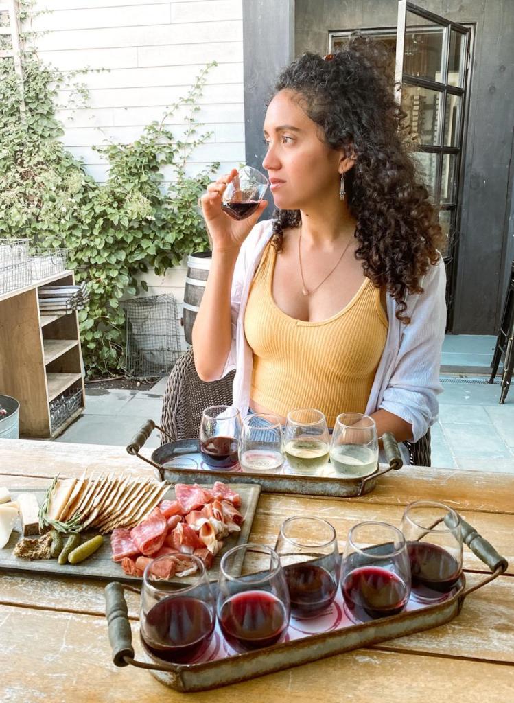 drinking wine in long island