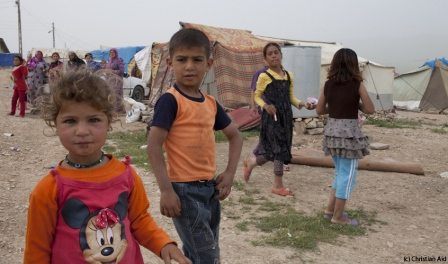 Christian Children from Syria at a Refugee Camp in Iraq