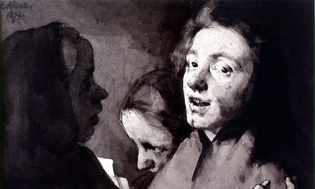 Theodule Ribot, Conversation Piece: Three Heads
