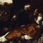 Carlo Saracini, Saint Stephen Mourned by Saints Gamaliel and Nicodemus