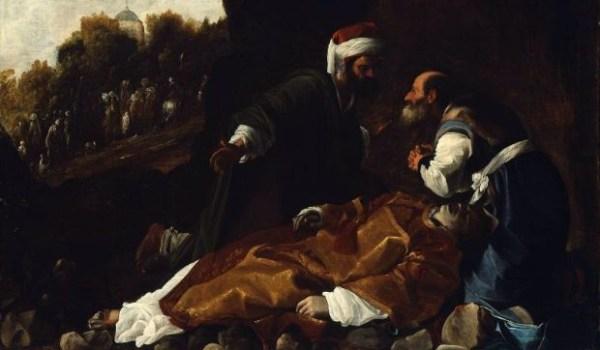 Carlo Saracini, Saint Stephen Mourned by Saints Gamaliel and Nicodemus