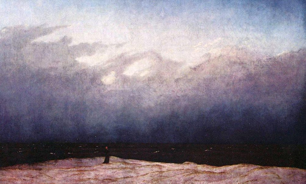 Image: Caspar David Friedrich, Monk by the Seashore.