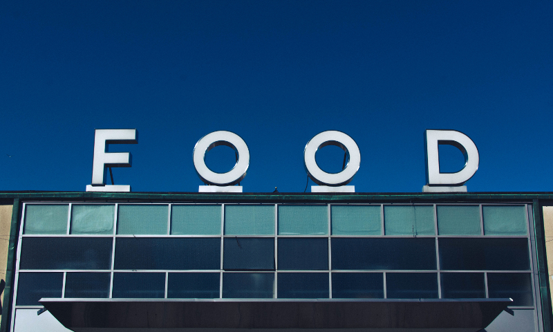 A food sign