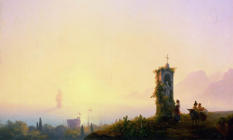 Ivan Aivazovsky, Chapel on Seashore