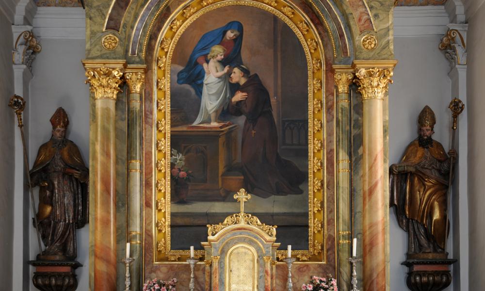 Wolfgang Moroder, Main Altar of Saint Antony church (public domain)