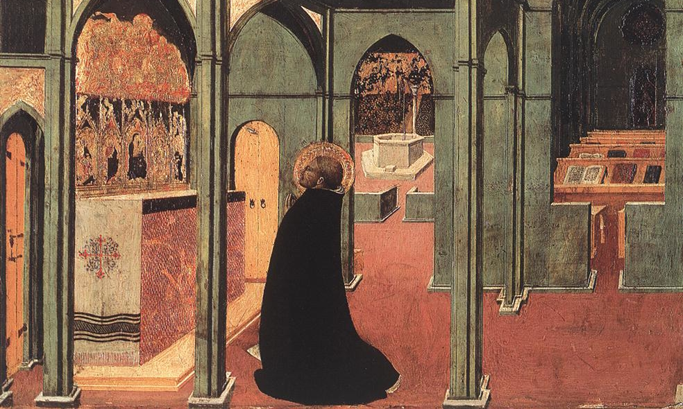 Sassetta, St Thomas Inspired by the Dove of the Holy Ghost.