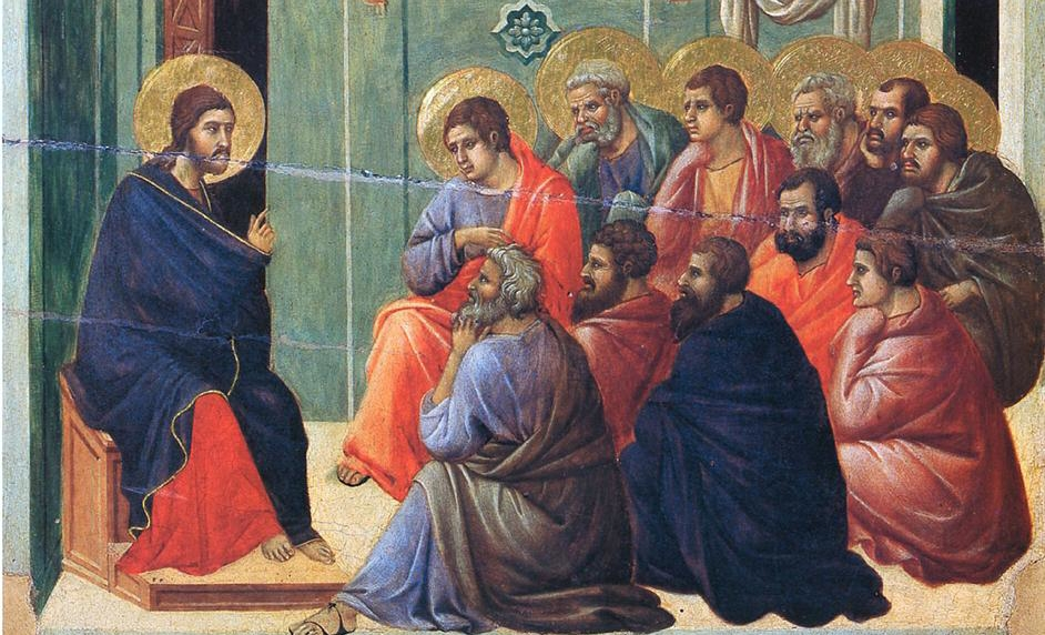 Duccio, Christ preaches the Apostles