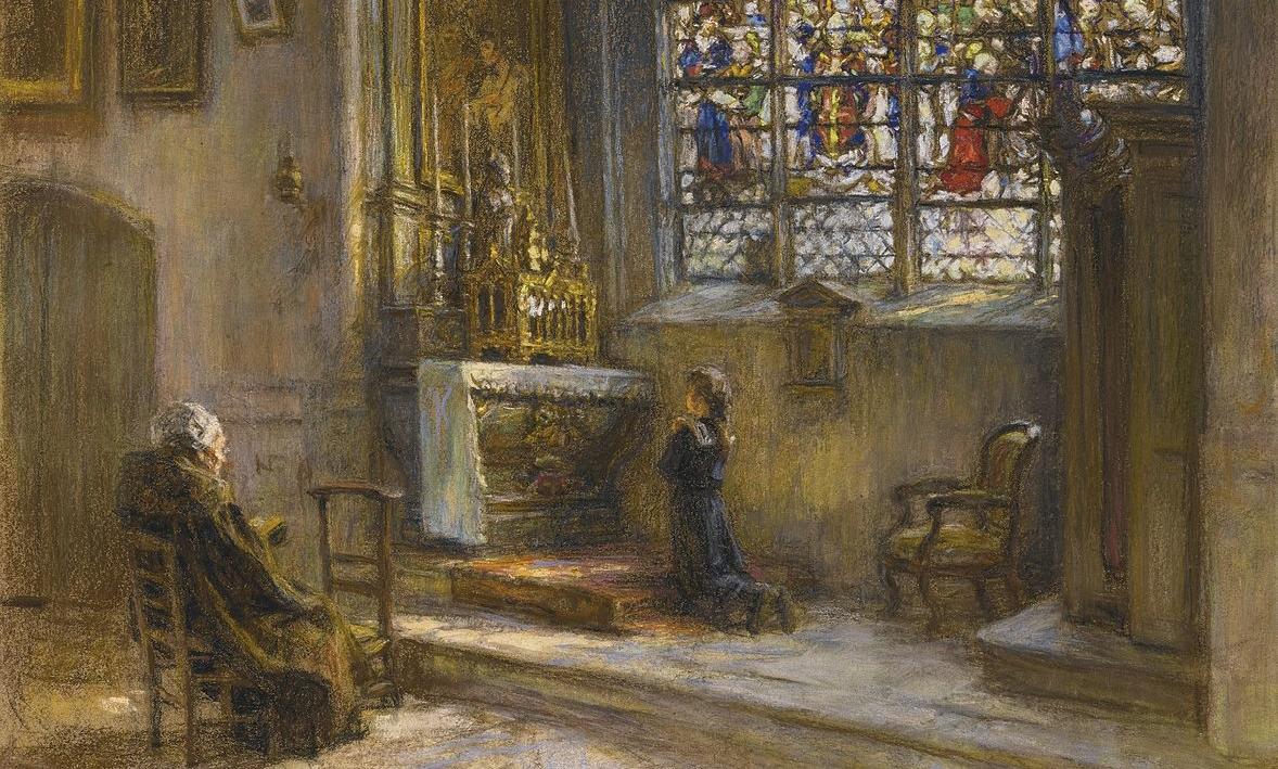 Léon Lhermitte, La prière, église Saint-Bonnet