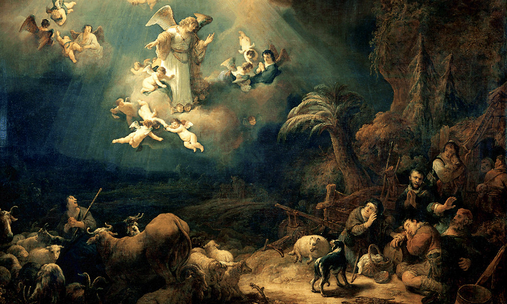 Govert Flinck, Angels Announcing Christ's Birth to the Shepherds