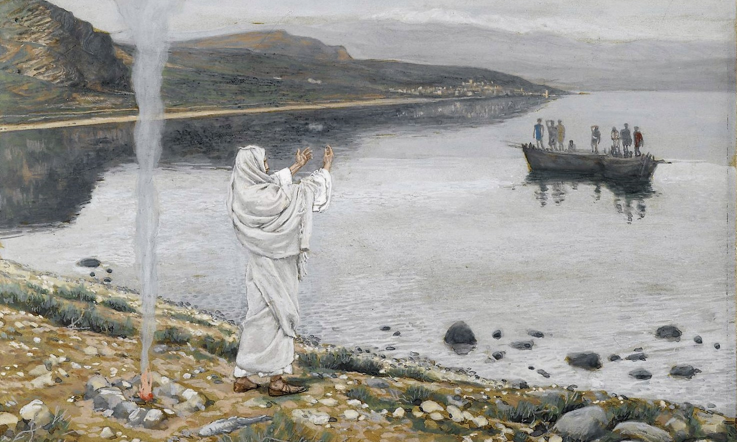 James Tissot, Christ Appears on the Shore of Lake Tiberias