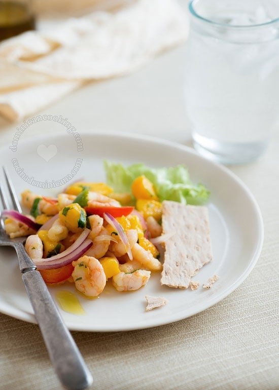 Shrimp and Mango Ceviche Salad Recipe:  Inspired by the classic South American dish, this salad is great for summer, when cooking isn't that fun.