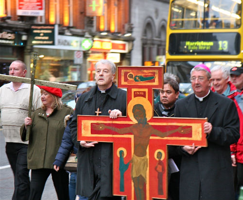"""That they may be one...""Ecumenical Good Friday Walk, through Dublin Streets."