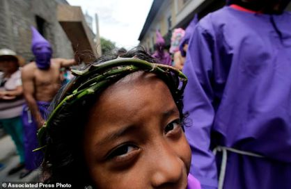 A Crown of Thorns symbolises oppressed children, L. America.