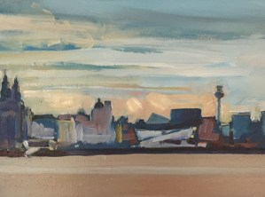 View of the Liverpool skyline from the Wirral (one