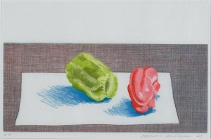 Two Peppers Signed  by David Hockney